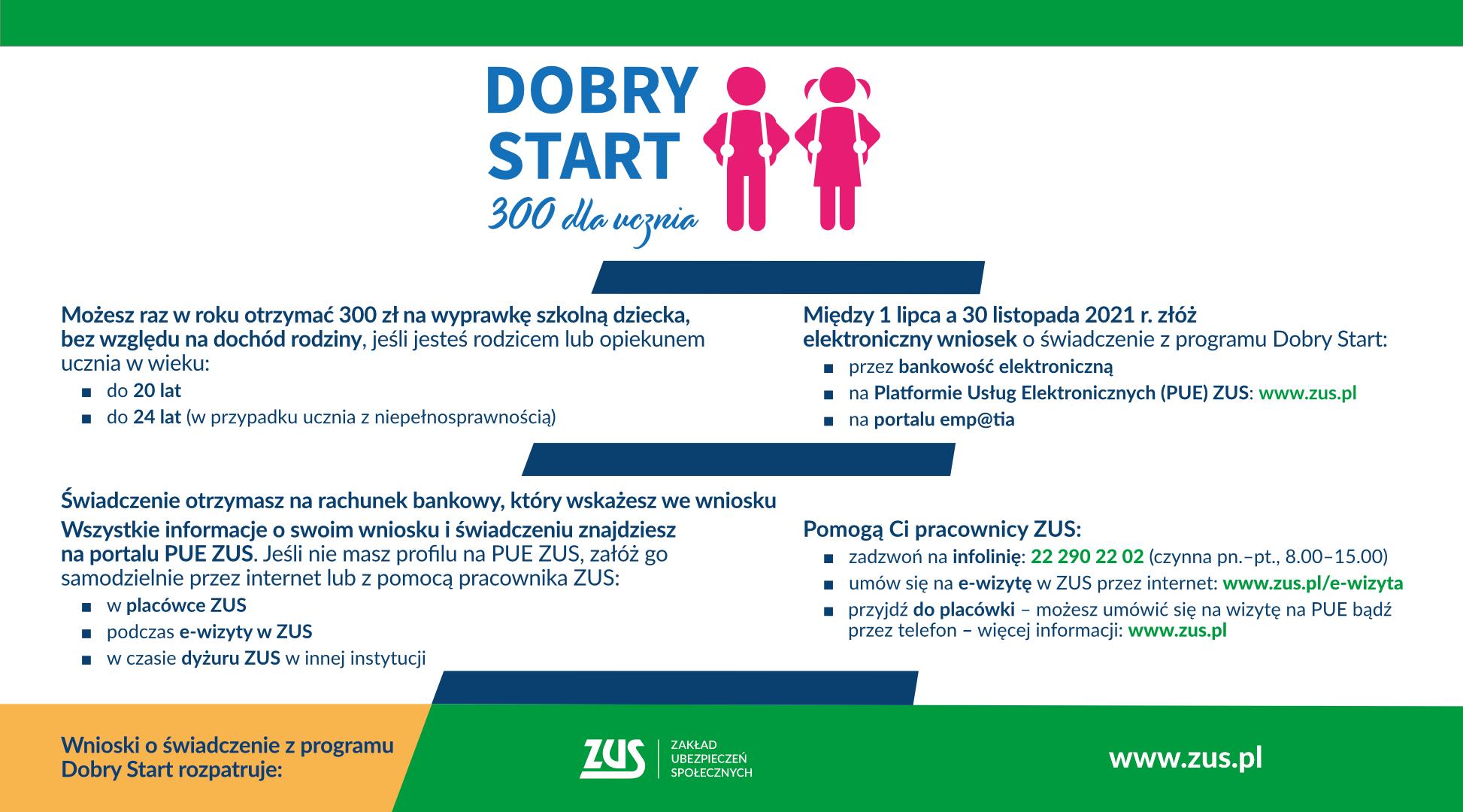 """Program """"Dobry Start"""" - 300 zł dla ucznia"""