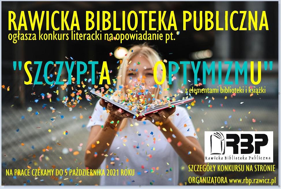 """Konkurs Rawickiej Biblioteki Publicznej """"Szczypta optymizmu"""""""